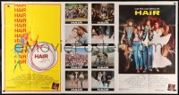 7j0011 HAIR 1-stop poster 1979 Milos Forman musical, Treat Williams, different Bob Peak art!