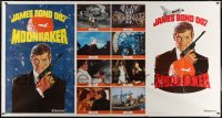 7j0013 MOONRAKER advance 1-stop poster 1979 art of Roger Moore as James Bond by Daniel Goozee!