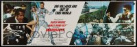 7j0021 MOONRAKER int'l 20x60 paper banner 1979 Roger Moore as James Bond, photo montage + Goozee art!