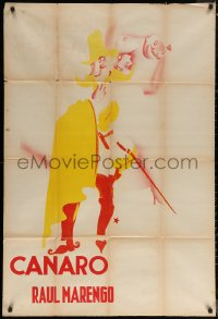 7j0044 FRANCISCO CANARO 29x43 Argentinean music poster 1930s two-color art of dancer, ultra rare!