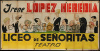 7j0045 LICEO DE SENORITAS 43x88 Argentinean stage poster 1937 great F.P. Fresno art of the cast!