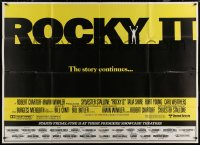7j0015 ROCKY II subway poster 1979 Sylvester Stallone & Carl Weathers boxing sequel!
