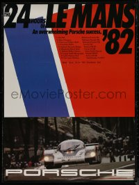 7m0008 24 HOURS OF LE MANS 30x40 German special poster 1982 image of the track, first NASCAR invite!
