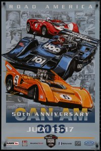 7m0013 CAN-AM 24x36 special poster 2016 Dennis Simon race car art, Canadian-American Challenge Cup!
