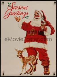 7m0019 COCA-COLA 23x31 special poster 1978 great art of Santa Claus with Coke bottle!