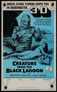 7m0001 CREATURE FROM THE BLACK LAGOON 9x14 special poster R1970s great image of monster in water!