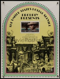 7m0020 D.W. GRIFFITH 30x40 special poster 1975 commemorative U.S. Postal Service postage stamp!