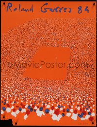 7m0024 FRENCH OPEN 23x30 French special poster 1984 great art of tennis crowd by Aillaud!