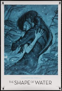 7m0040 SHAPE OF WATER heavy stock 27x40 special poster 2017 Guillermo del Toro, best James Jean art!
