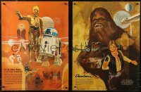 7m0005 STAR WARS group of 2 18x24 special posters 1977 A New Hope, Nichols, Coca-Cola, Burger Chef!