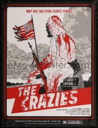 8a0008 CRAZIES #14/30 18x24 art print 2012 completely creepy art by Boneface, Romero, red variant!
