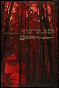 8a0019 FIRST BLOOD #37/82 24x36 art print 2020 Mondo, art by Oliver Barrett, variant edition!