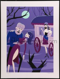 8a0038 SHAG'S UNIVERSAL MONSTERS signed #26/150 18x24 art print 2013 gypsy holding leash by Wolfman!