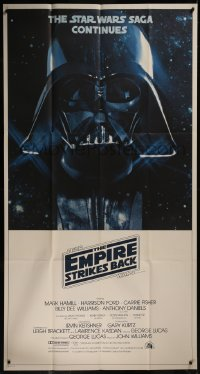 8d0020 EMPIRE STRIKES BACK 3sh 1980 Darth Vader helmet and mask in space, George Lucas classic!