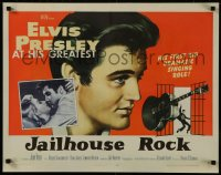 8d0030 JAILHOUSE ROCK style B 1/2sh 1957 classic art of Elvis Presley by Bradshaw Crandell!