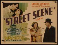 8d0037 STREET SCENE 1/2sh 1931 King Vidor classic, Sylvia Sidney, William Collier Jr., very rare!
