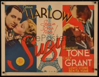8d0038 SUZY 1/2sh 1936 sexy Jean Harlow between Cary Grant & Franchot Tone in Paris, ultra rare!