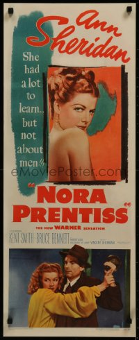 8d0025 NORA PRENTISS insert 1947 sexy Ann Sheridan had a lot to learn, but not about men!