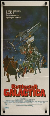 8f0193 BATTLESTAR GALACTICA Aust daybill 1978 great sci-fi art by Robert Tanenbaum!