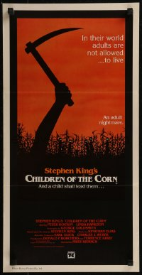 8f0219 CHILDREN OF THE CORN Aust daybill 1983 Stephen King horror, and a child shall lead them!