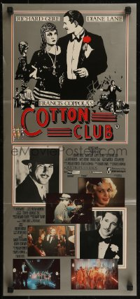 8f0224 COTTON CLUB Aust daybill 1984 directed by Francis Ford Coppola, Richard Gere, Diane Lane!