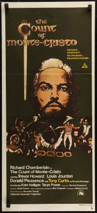 8f0225 COUNT OF MONTE CRISTO Aust daybill 1975 Richard Chamberlain in title role!