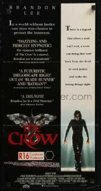 8f0227 CROW Aust daybill 1994 Brandon Lee's final movie, believe in angels, cool image!