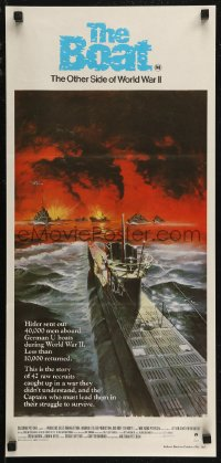8f0228 DAS BOOT Aust daybill 1982 The Boat, Wolfgang Petersen German World War II submarine classic!