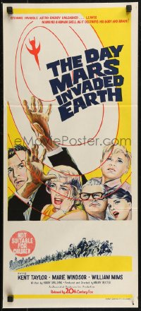 8f0231 DAY MARS INVADED EARTH Aust daybill 1963 their brains were destroyed by alien super-minds!
