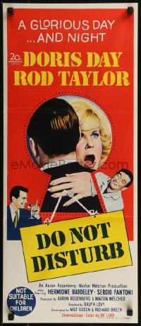 8f0238 DO NOT DISTURB Aust daybill 1965 Doris Day, Rod Taylor, Hermione Baddeley!