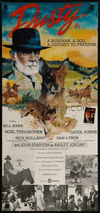 8f0240 DUSTY Aust daybill 1983 Bill Kerr, Noel Trevarthen, journey to freedom, Wilkin art!