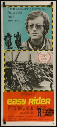 8f0241 EASY RIDER Aust daybill 1969 Peter Fonda, motorcycle classic directed by Dennis Hopper!