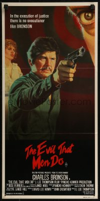 8f0246 EVIL THAT MEN DO Aust daybill 1984 tough guy Charles Bronson & sexy Theresa Saldana!