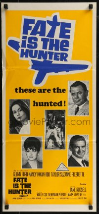 8f0250 FATE IS THE HUNTER Aust daybill 1964 Glenn Ford, Nancy Kwan, Rod Taylor, Suzanne Pleshette!