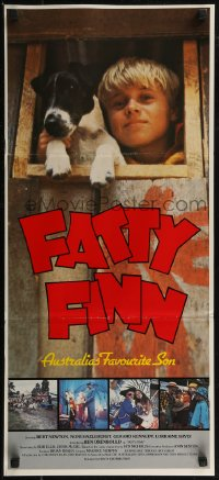 8f0251 FATTY FINN Aust daybill 1980 Ben Oxenbould in title role, Australia's favorite son!