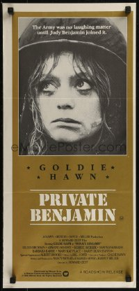 8f0377 PRIVATE BENJAMIN Aust daybill 1981 funny image of depressed soldier Goldie Hawn!
