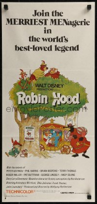 8f0390 ROBIN HOOD Aust daybill R1983 Walt Disney cartoon, the way it REALLY happened!