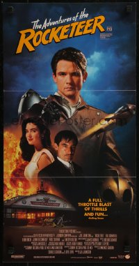 8f0393 ROCKETEER Aust daybill 1991 Bill Campbell in title role, sexy Jennifer Connelly, Dalton!