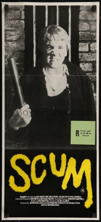8f0405 SCUM Aust daybill 1980 directed by Alan Clarke, completely different image of Ray Winstone!