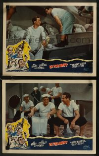 8g1201 IN THE NAVY 2 LCs R1948 Bud Abbott & Lou Costello on Navy ship, Shemp Howard in one!