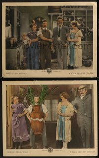 8g1216 MADE IN THE KITCHEN 2 LCs 1921 images of Louise Fazenda & Billy Bevan, A Fireside Brewer!