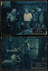 8g1217 MAN WHO PLAYED SQUARE 2 LCs 1924 cowboy Buck Jones, cool cowboy western action!