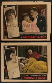 8g1220 MIDNIGHT ROSE 2 LCs 1928 great images of gorgeous Lya De Putti in the title role, ultra rare!