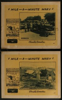 8g1221 MILE-A-MINUTE MARY 2 LCs 1922 Dorothy Devore in the title role, car racing, ultra rare!
