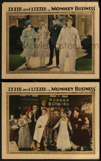 8g1222 MONKEY BUSINESS 2 LCs 1927 great images of Georgie Chapman and Margery Meadows, ultra rare!