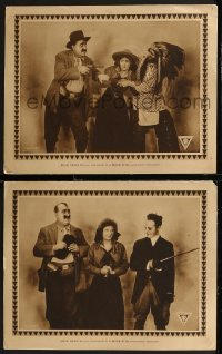 8g1223 MOVIE STAR 2 LCs 1916 Handsome Jack Mack Swain attends his own movie & gets in trouble, rare!