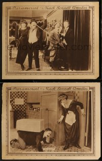 8g1226 NO MOTHER TO GUIDE HIM 2 LCs 1919 poor Ben Turpin's wife Myrtle Lind is too suspicious, rare!