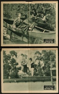 8g1230 ON THE GO 2 LCs 1925 William Fox, wacky Sidney Smith, Boyd, canoeing, diving, ultra rare!