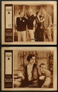 8g1235 RICH UNCLES 2 LCs 1930 Rich Carle in the title role mistakes suitor for groom, ultra rare!