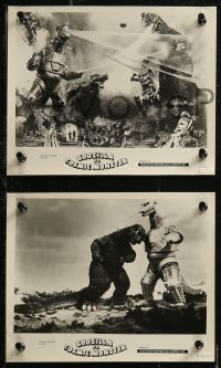 8g0191 GODZILLA VS. BIONIC MONSTER 6 8x10 stills R1978 includes wonderful special effects images!
